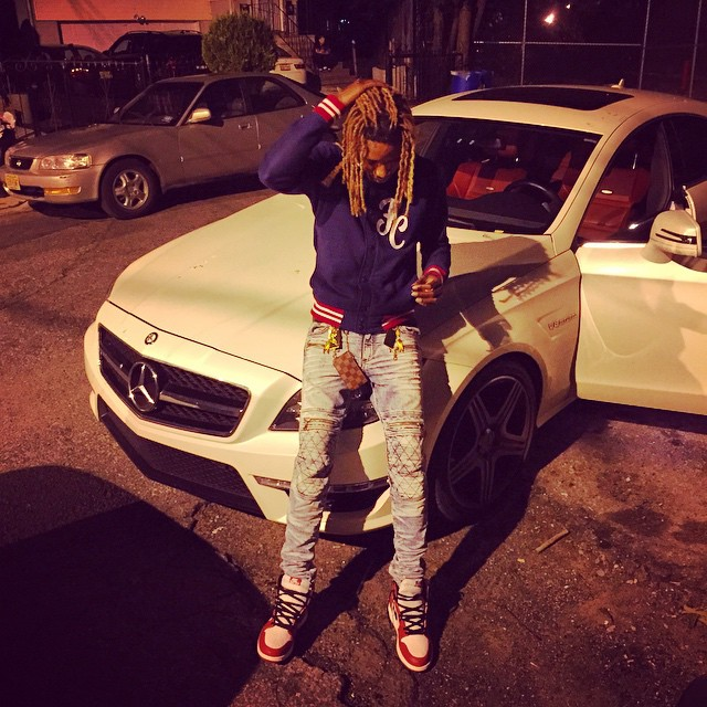 Fetty Wap wearing the 'Bulls' Air Jordan 1