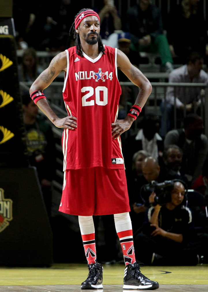 Snoop Dogg wearing adidas Crazy Shadow 2