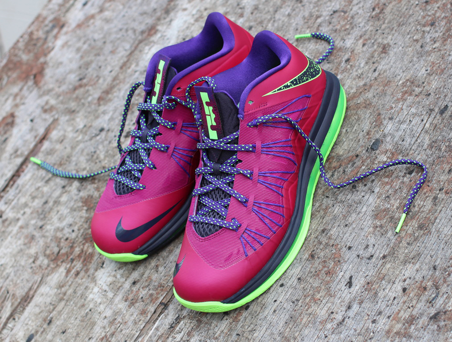 c5d86c501d0 Detailed Look    Nike LeBron X Low - Raspberry Red