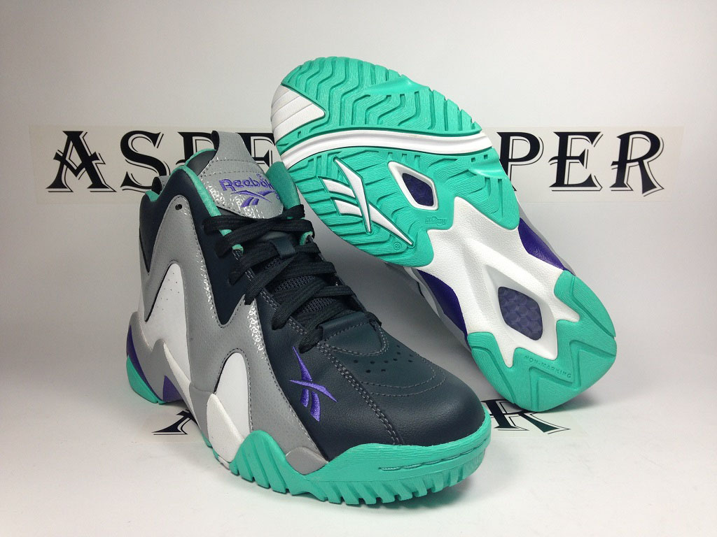 Reebok Kamikaze 2 GS - Navy/Grey-Teal (6)