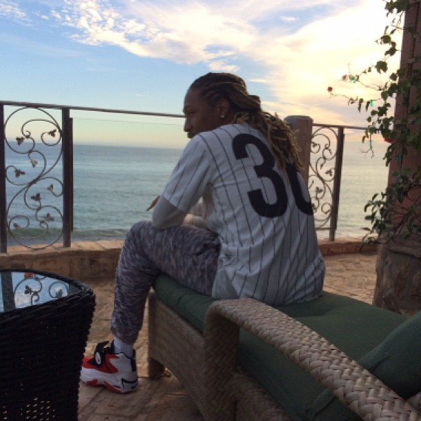 Future wearing Nike Air Mission