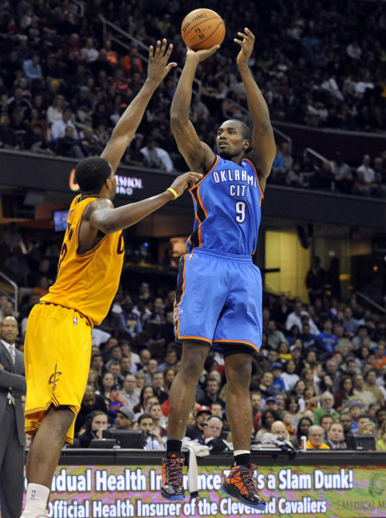 Serge Ibaka wearing adidas Crazy Fast Away PE
