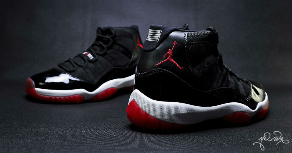 Air Jordan XI 11 Black Red 378037-010 (19)