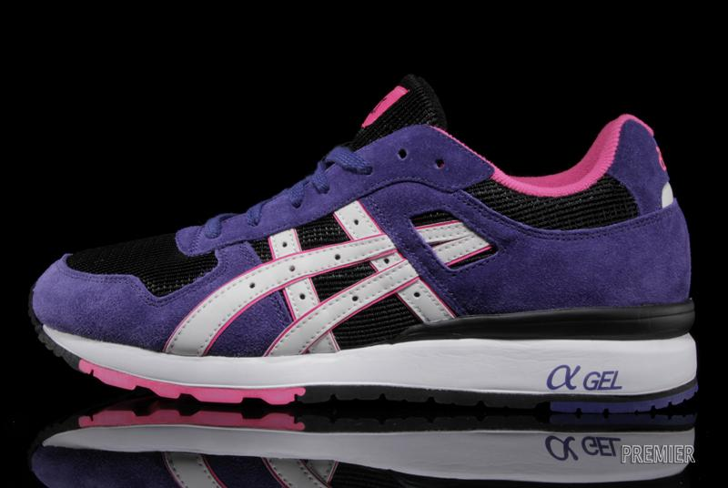 ASICS GT II in black purple and white