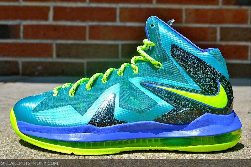 Nike LeBron X PS Elite Sport Turquoise Volt Violet Force 579827-300 (1)