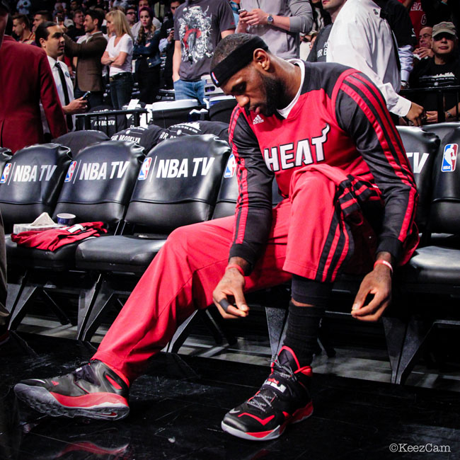 LeBron James wearing Nike Zoom Soldier VII