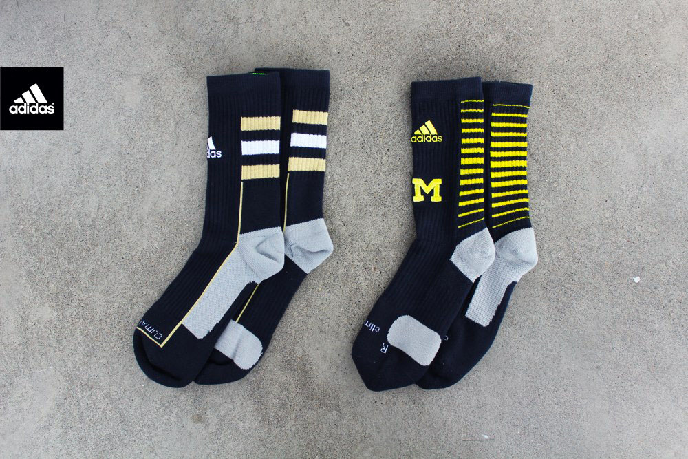 adidas Team Speed Crew Socks // Notre Dame vs. Michigan