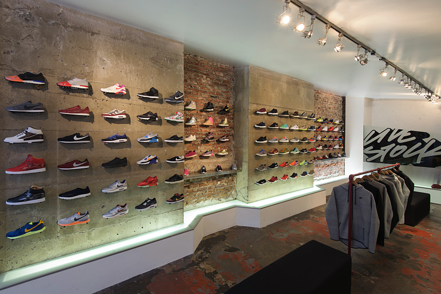 Nike Takeover at Livestock Gastown Sneaker Display