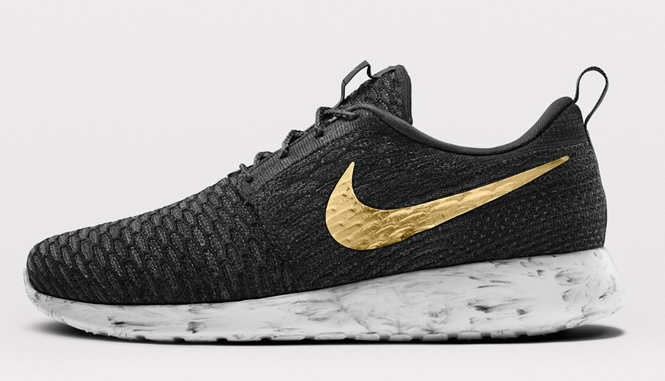 1a40979ff7cf ... canada nike roshe run flyknit black and gold f8596 92a75 ...