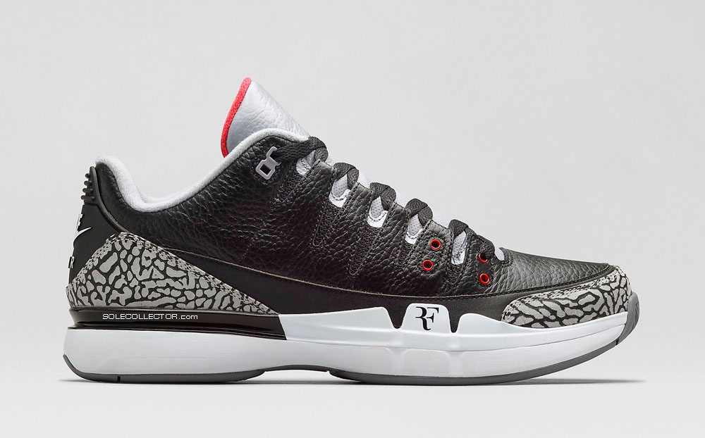 36e875b10a497e Official Images for the Nike Zoom Vapor Air Jordan 3  Black Cement ...