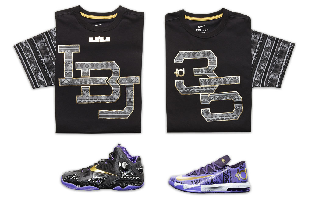 Nike Basketball Black History Month BHM 2014  LeBron James & Kevin Durant Shirts