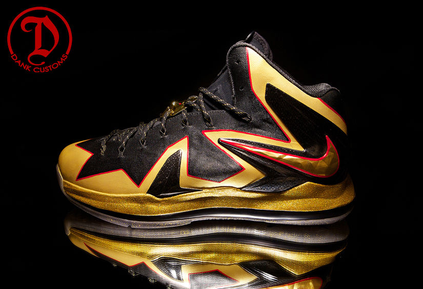 Nike LeBron X PS Elite Championship For LeBron James By Dank Customs (7)