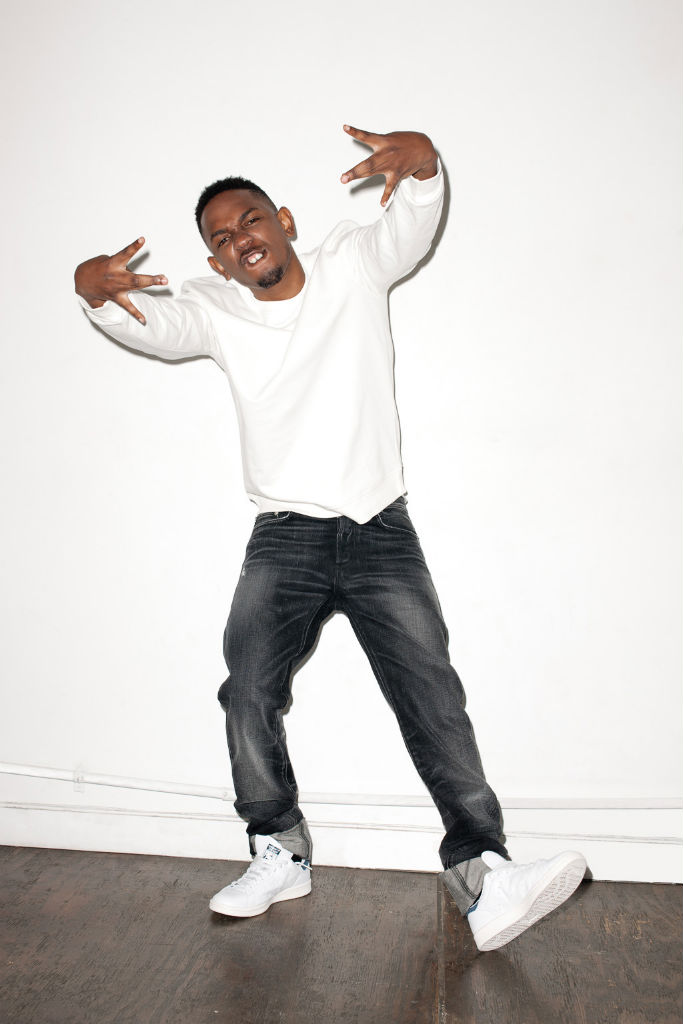 Kendrick Lamar wearing adidas Originals Stan Smith