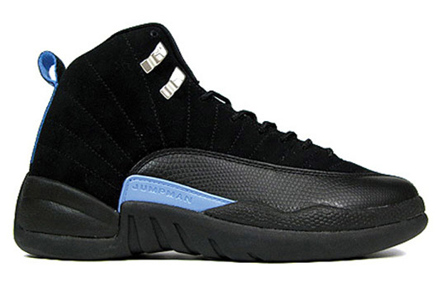 The Top 10 'UNC' Air Jordan Releases of All-Time - Air Jordan XII 12 Retro Nubuck