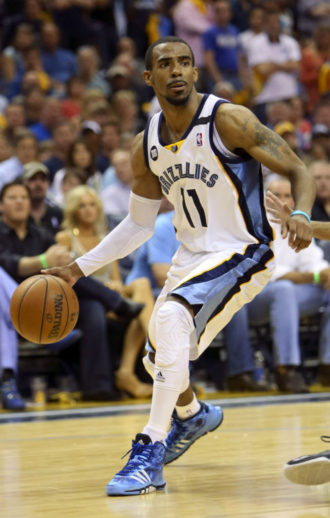 Mike Conley wearing adidas Crazyquick Blue