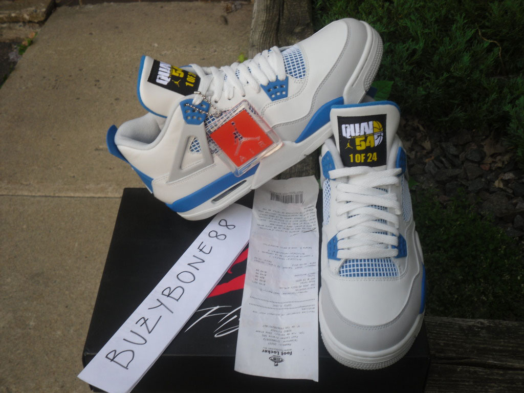 Air Jordan IV 4 Quai 54 Military Blue (1) de732808b6ad