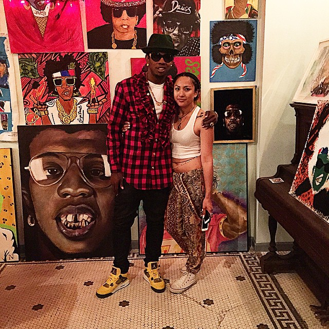 Trinidad James wearing Air Jordan IV 4 Lightning