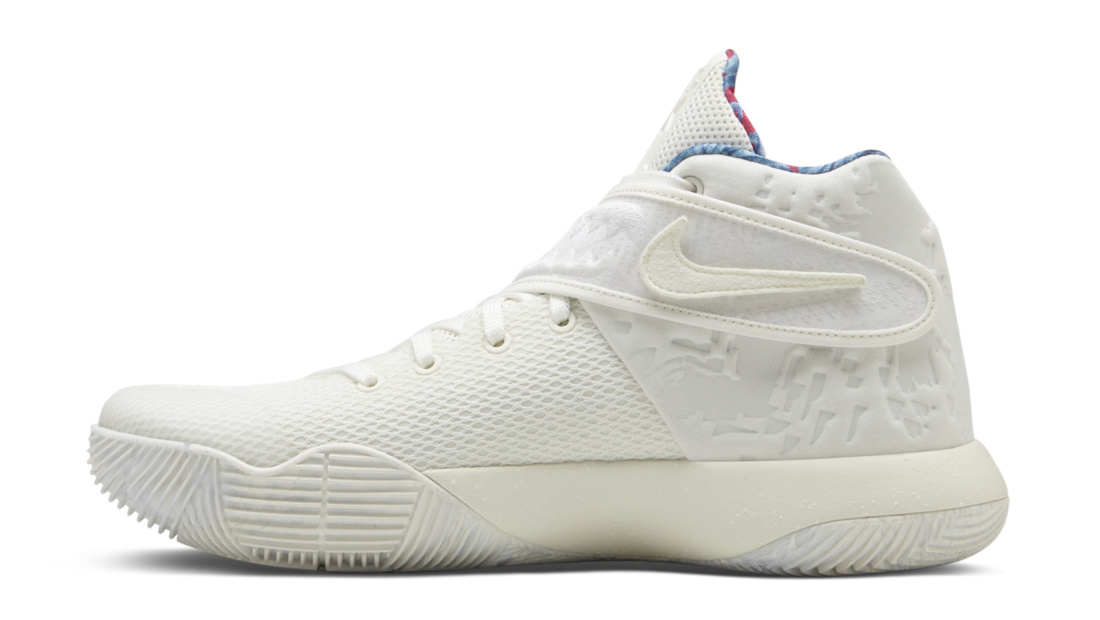 What the Nike Kyrie 2 Sail 914681-100 Medial