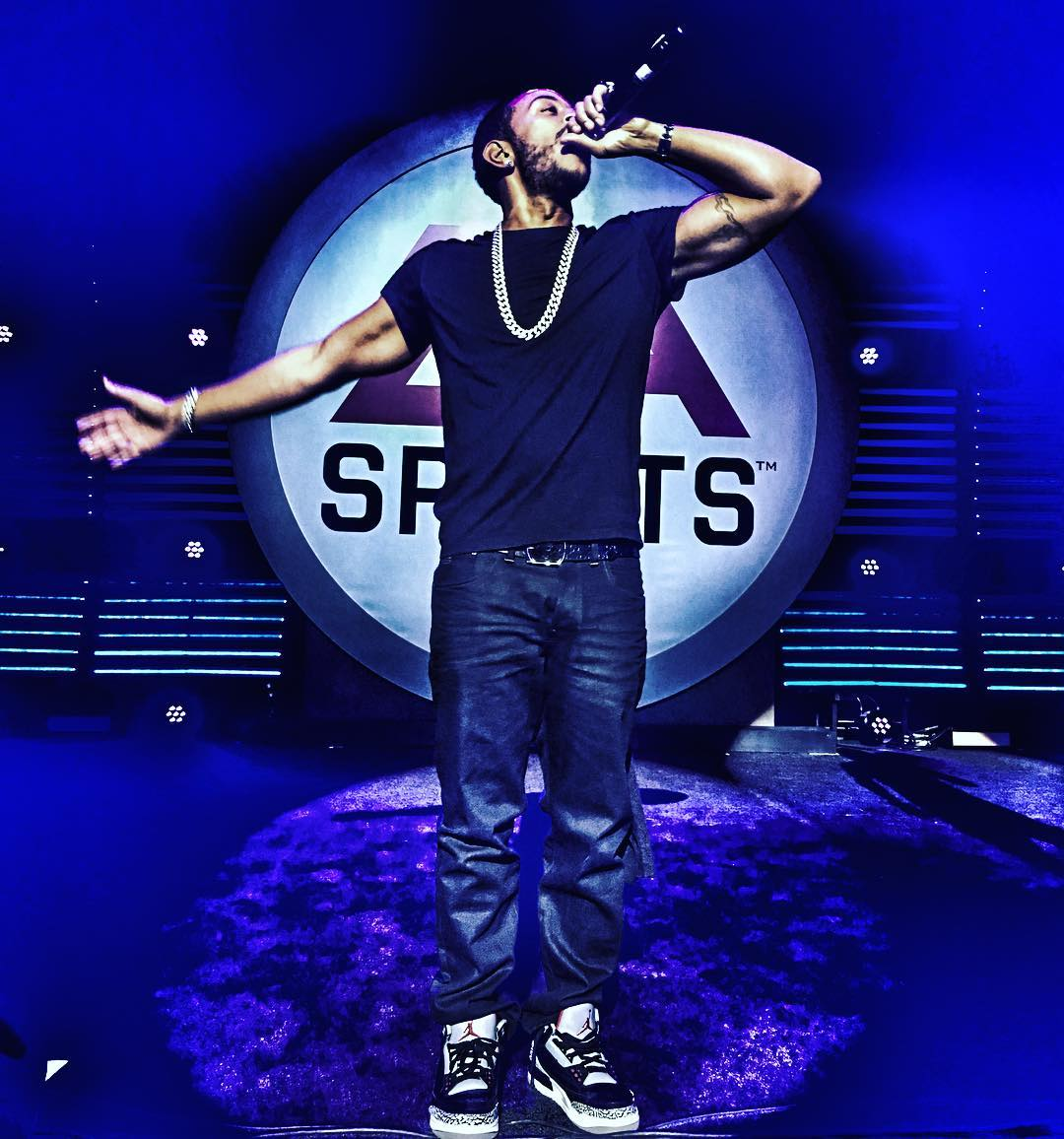 Ludacris Wearing the 'Black Cement' Air Jordan 3