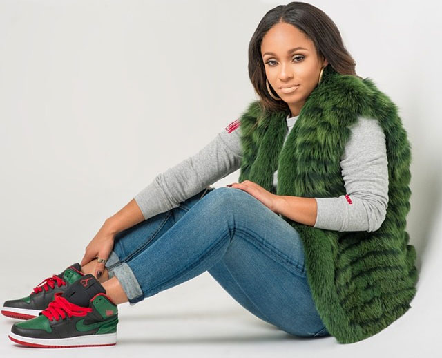 Tahiry Jose wearing Air Jordan 1 Retro Gucci