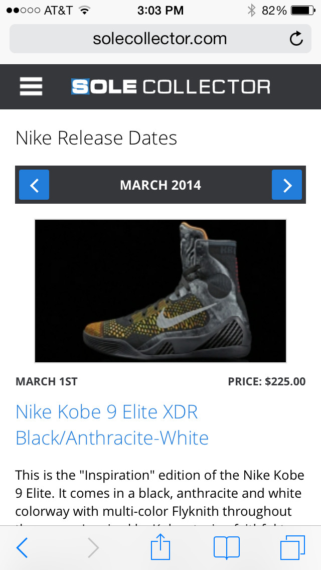 Sole Collector Mobile Release Dates