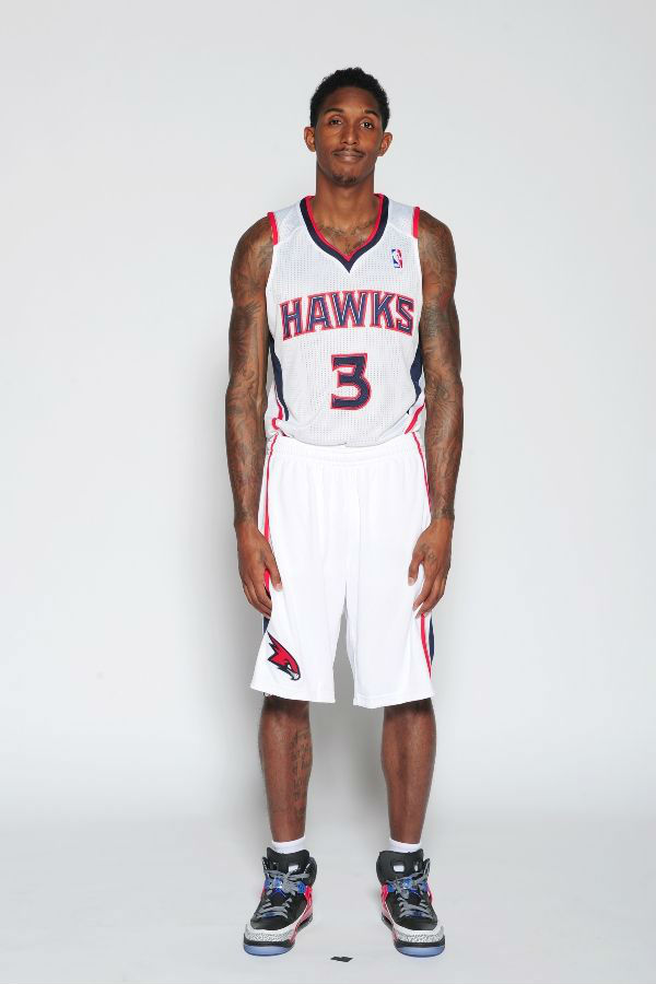 Lou Williams wearing Jordan Spizike iD