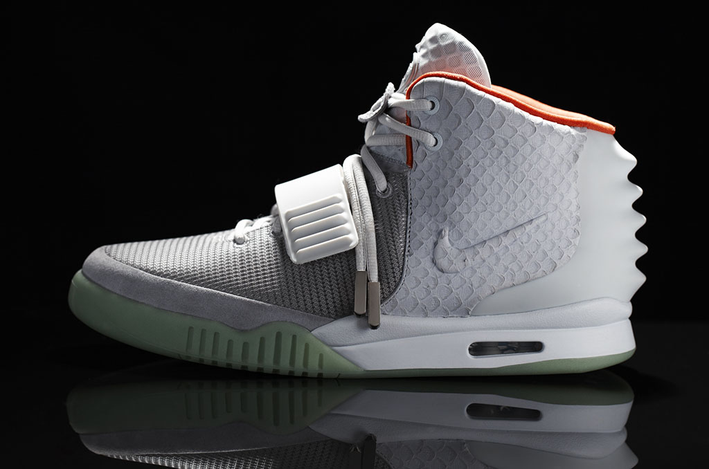 Air Yeezy Navy Orange Grey shoes