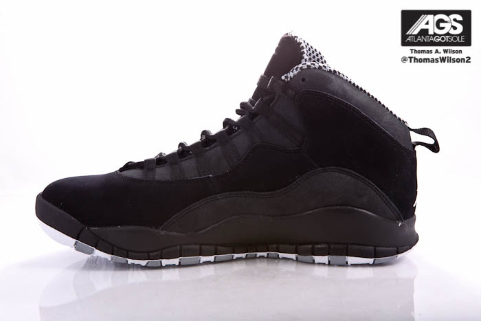 Air Jordan 10 X Retro Shoes Black White Stealth 310805-003 (6)