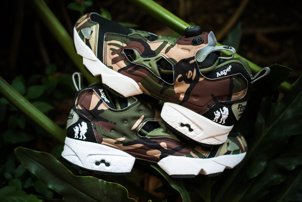 aape by a bathing ape x reebok pump fury
