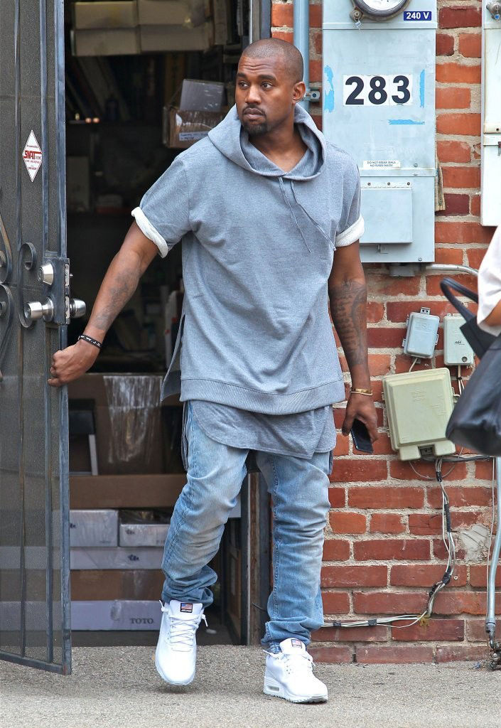 Kanye West Wearing Nike Air Max 90 Hyperfuse USA Pack (5)