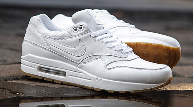 8d498a6dff4c1 Images via Foot Locker. by Brendan Dunne. The white ostrich/gum Nike Air  Max 1 ...