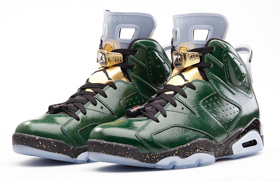 womens air jordan retro 14 gold green