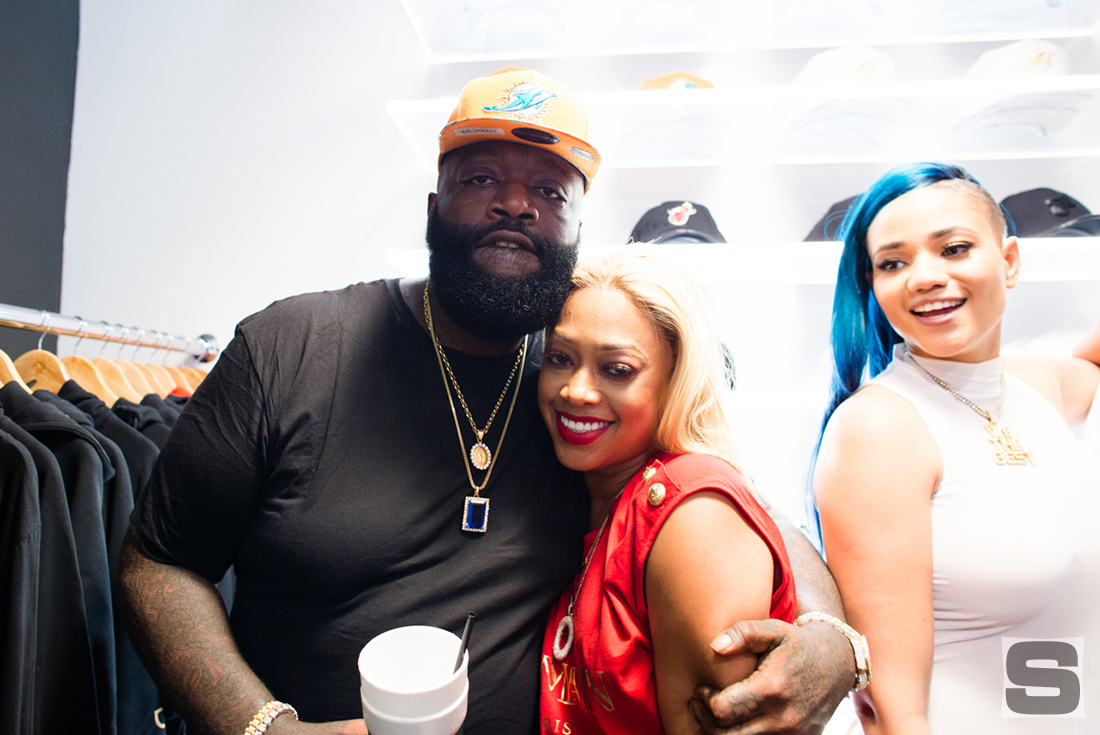 Rick Ross Trina at DJ Khaled's Champs Sports Store