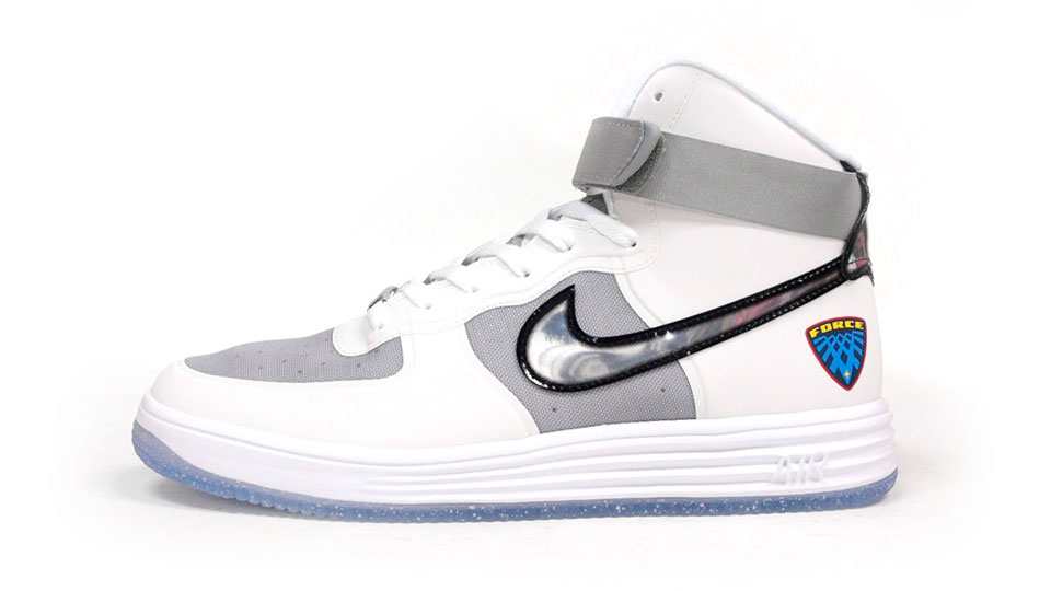 brand new 0e68b 69e8d Nike Lunar Force 1 Hi WOW QS - White   Metallic Silver
