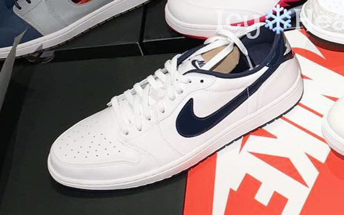 Jordan 1 Low White Metallic Blue