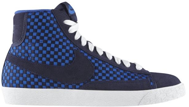 Nike Blazer Mid Woven Blackend Blue/Blackend Blue-Game Royal-White