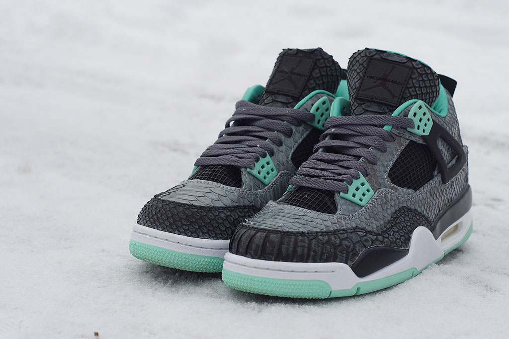 Air Jordan 4 'Python Green Glow' by JBF Customs (6)