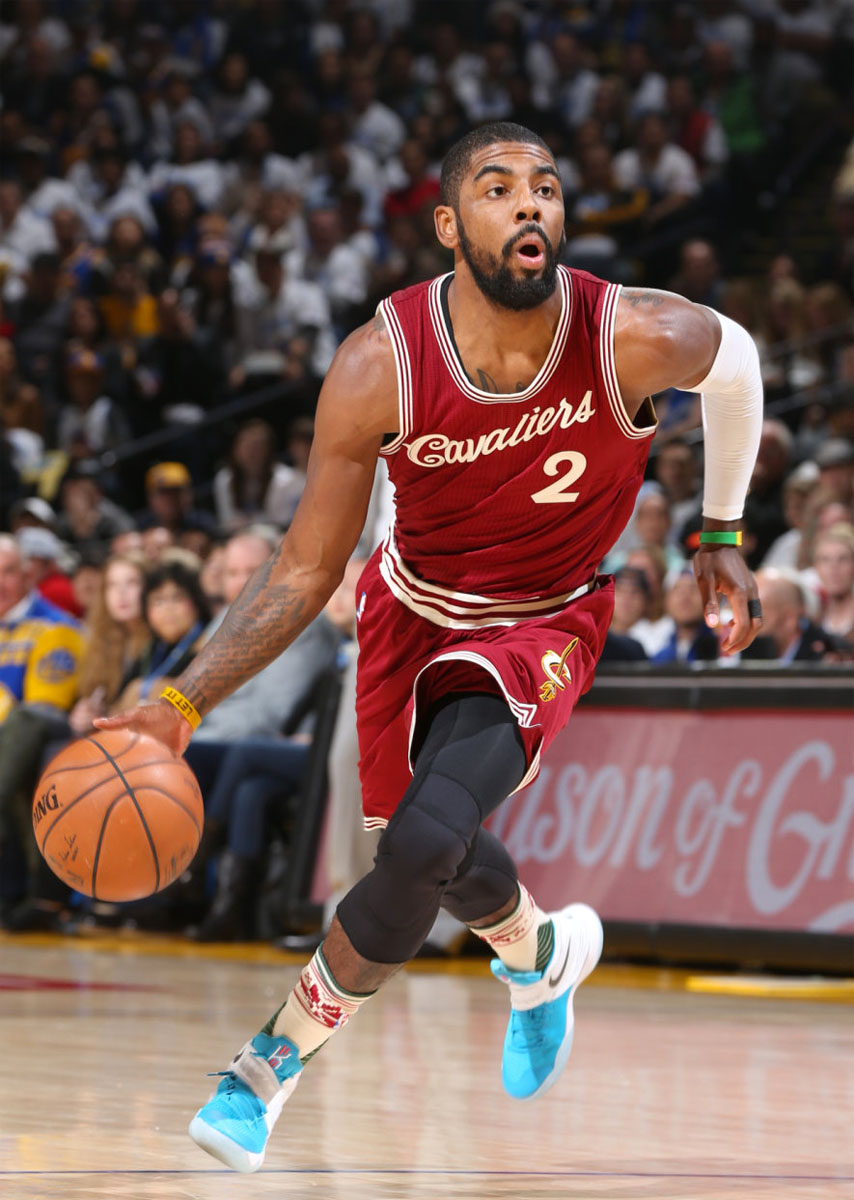 quality design e367c 762d8 Kyrie Irving wearing the Christmas Nike Kyrie 2