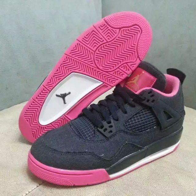 best sneakers bac7d af9eb Air Jordan 4 Denim GS 487724-408 (1)