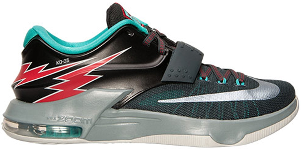 Nike KD VII Classic Charcoal/Dove Grey-Light Retro-University Red