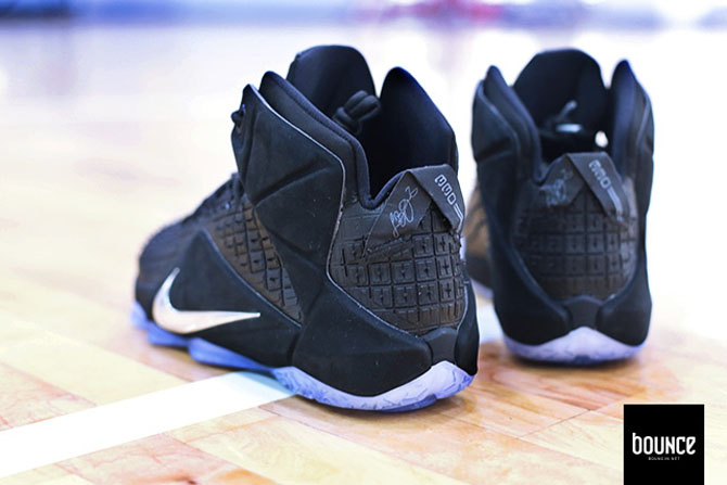 27ddd8a900c Nike LeBron XII 12 Black Rubber City image via JRizzo502