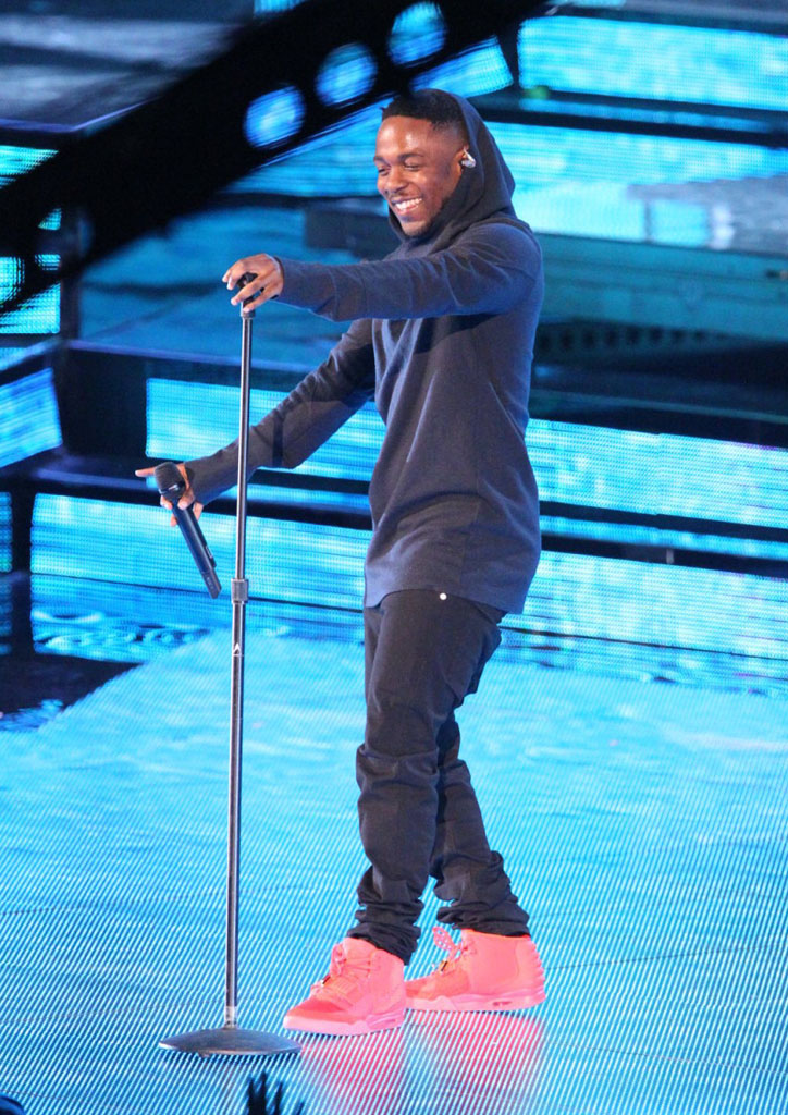 Kendrick Lamar Wears 'Red October' Nike Air Yeezy 2 (4)