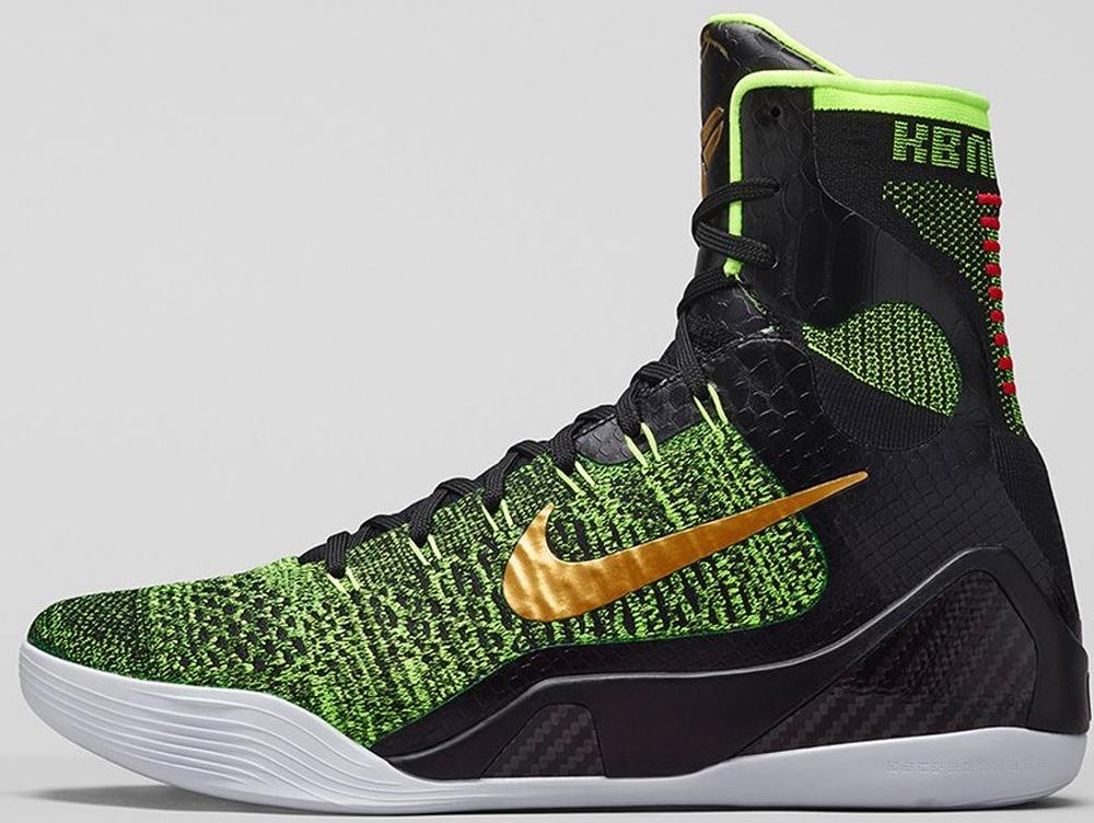 Nike Kobe 9 Elite Black/Volt-Anthracite-Metallic Gold
