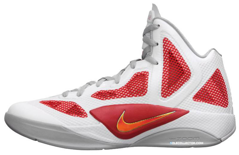 458ffc55ccfd Nike Zoom Hyperfuse 2011 White Metallic Luster Sport Red 454136-101