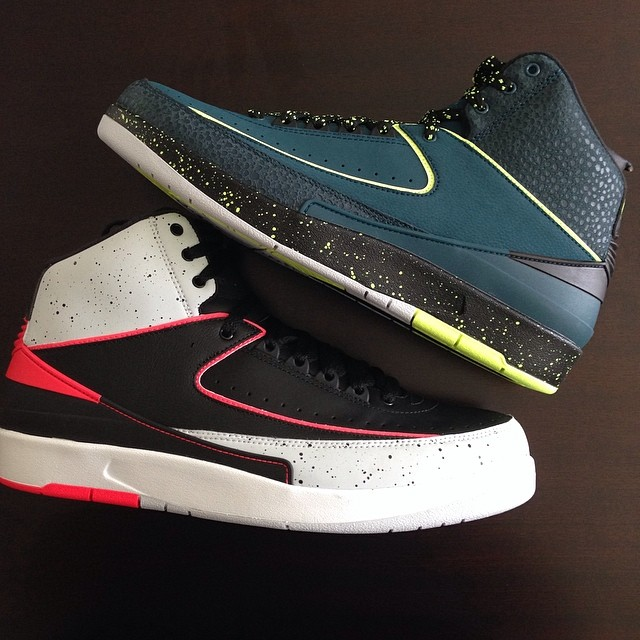 Fat Joe Picks Up Air Jordan 2 Retro Nightshade & Infrared 23