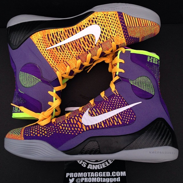 premium selection af7e9 6065d New Photos of the Court Purple/Laser Orange Nike Kobe 9 ...