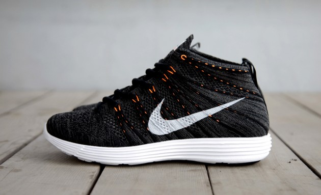 4160fba0db6c Nike Lunar Flyknit Chukka - Black Total Orange