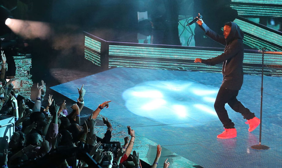 Kendrick Lamar Wears 'Red October' Nike Air Yeezy 2