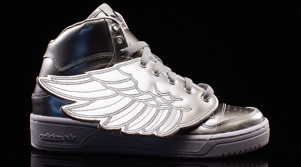 adidas jeremy scott wings 2.0 metallic silver