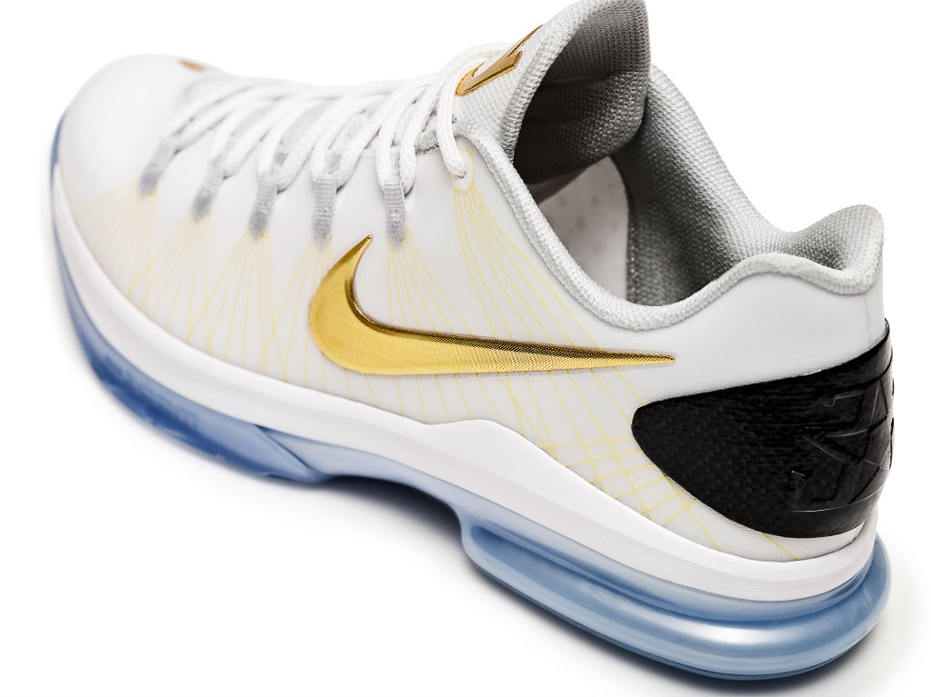 Nike KD V Elite+ White Gold (2)